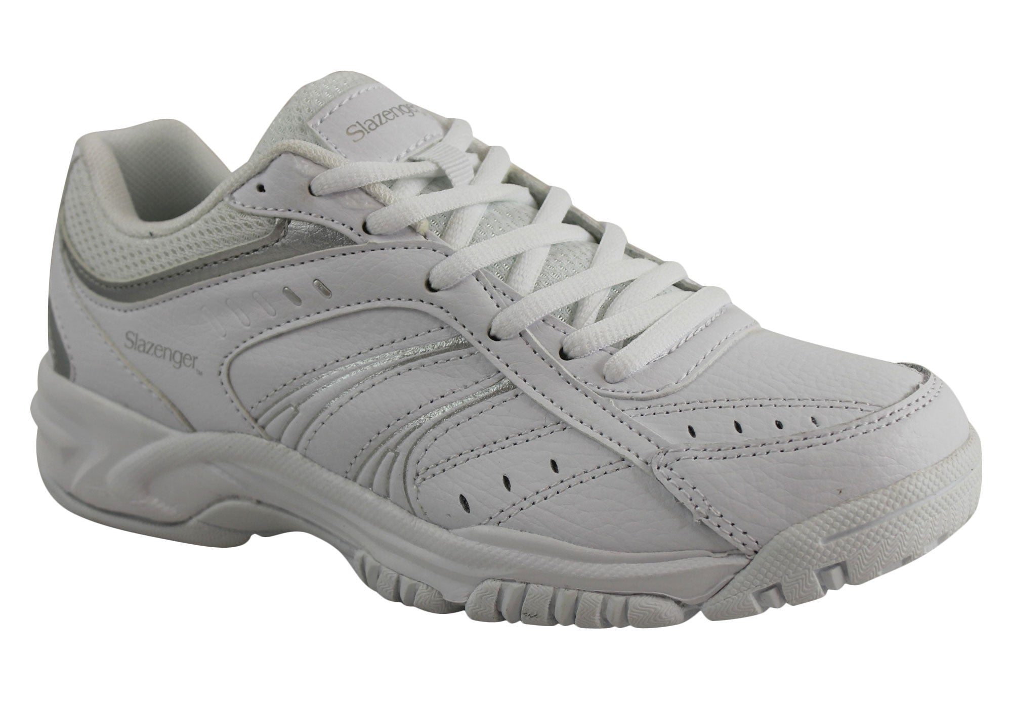 Slazenger Baseline Womens Leather Lace Up Sport Shoes
