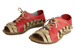 Andacco Petuna Womens Comfortable Flat Leather Sandals Made In Brazil