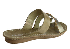 Andacco Felica Womens Comfort Leather Thongs Sandals Made In Brazil