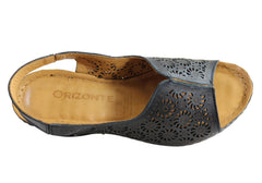 Orizonte Teri Womens European Leather Comfortable Wedge Sandals