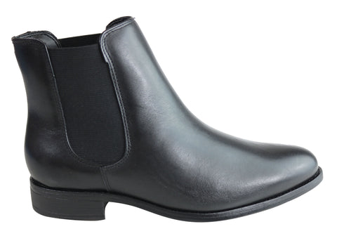 Villione Lara Womens Leather Chelsea Ankle Boots Made In Brazil