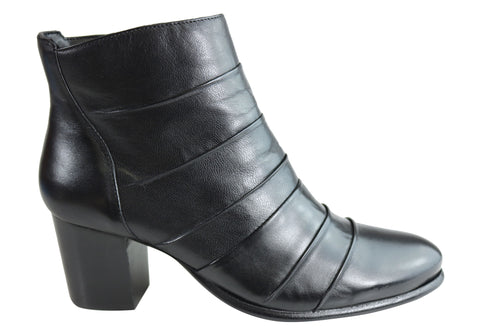 Villione Monica Womens Comfortable Leather Ankle Boots Made In Brazil