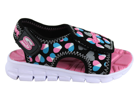 Skechers Synergize Splash N Dash Girls Toddler Kids Sporty Sandals