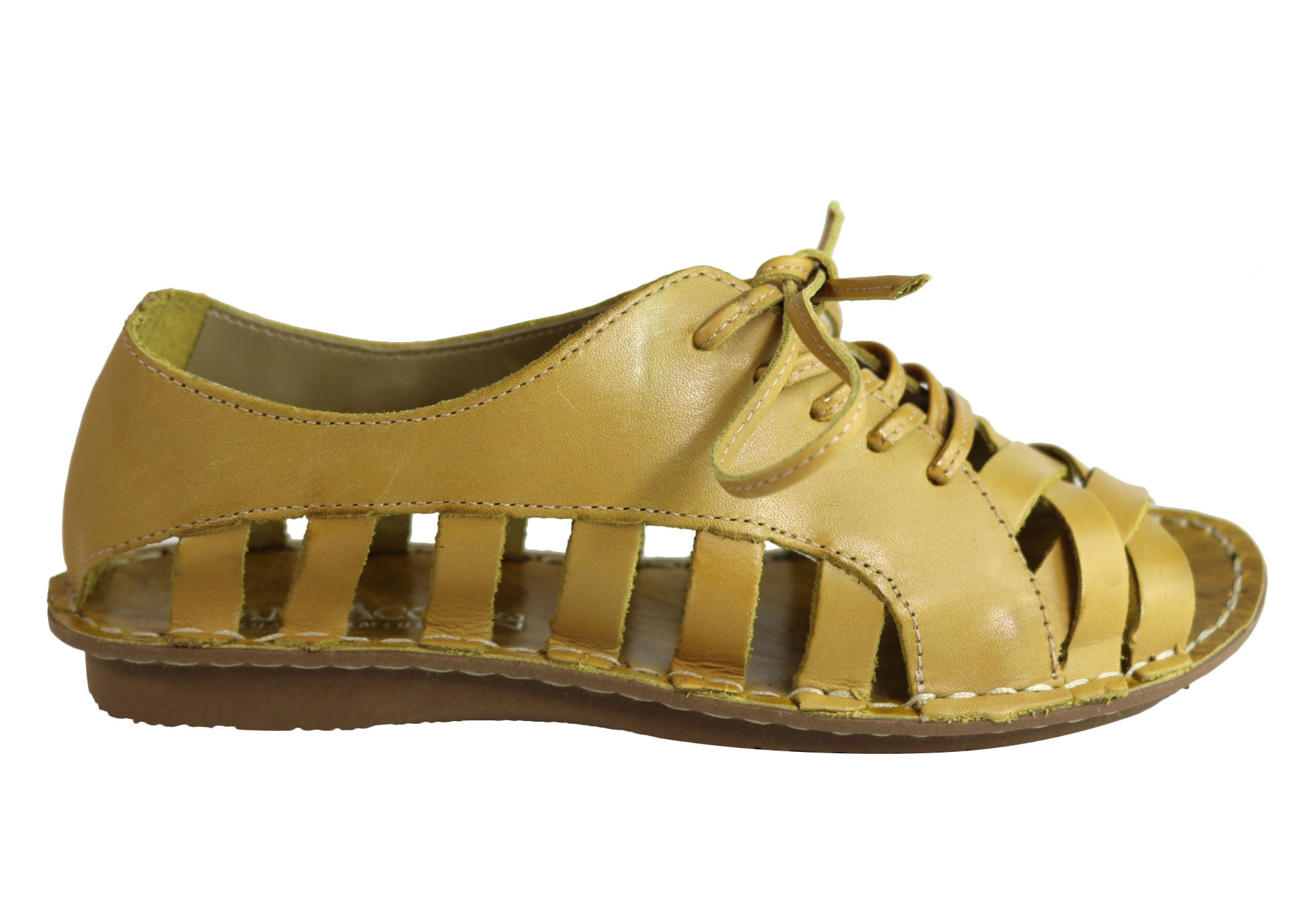 3a686503742 Andacco Petuna Womens Comfortable Flat Leather Sandals Made In Brazil