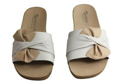 Andacco Maze Womens Comfortable Leather Slide Sandals Made In Brazil