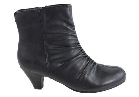 Grosby Athena Womens Comfortable Wide Fit Ankle Boots