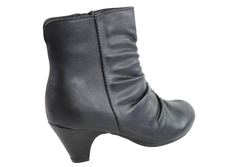 d584ebebee1 ... Grosby Athena Womens Comfortable Wide Fit Ankle Boots ...