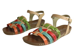 Andacco Cosa Womens Comfortable Flat Leather Sandals Made In Brazil