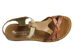 Andacco May Womens Comfortable Flat Leather Sandals Made In Brazil