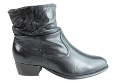 Villione City Womens Comfortable Leather Ankle Boots Made In Brazil