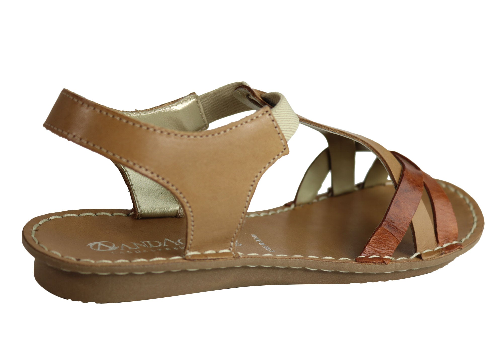 f3c96225269 Andacco May Womens Comfortable Flat Leather Sandals Made In Brazil ...