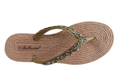 Bellissimo Talia Womens Comfortable Fashion Thongs Flip Flops Sandals