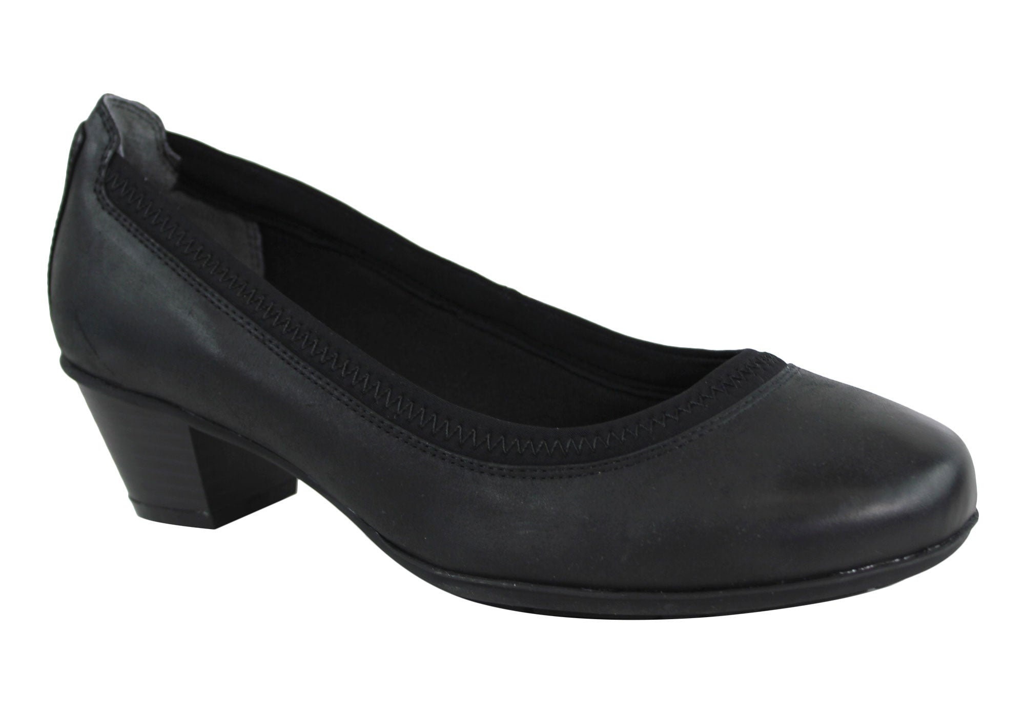 Rockport Amy Pump Womens Wide Fit Leather Court Shoes