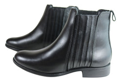 Villione Avery Womens Leather Chelsea Ankle Boots Made In Brazil