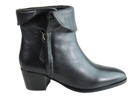 Villione Penny Womens Comfortable Leather Ankle Boots Made In Brazil