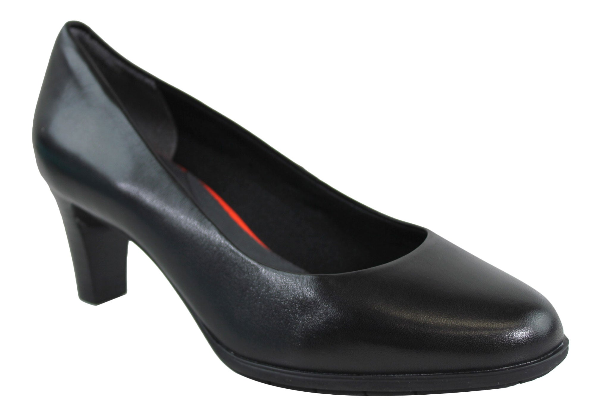 Rockport Melora Plain Pump Womens Wide Fit Leather Shoes