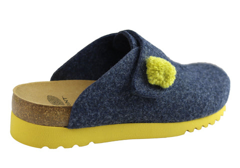 Brand New Scholl Bioprint Elvy Womens Comfort Supportive Slippers Shoes