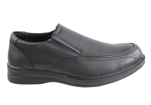 Grosby Jac Mens Leather Comfort Shoes
