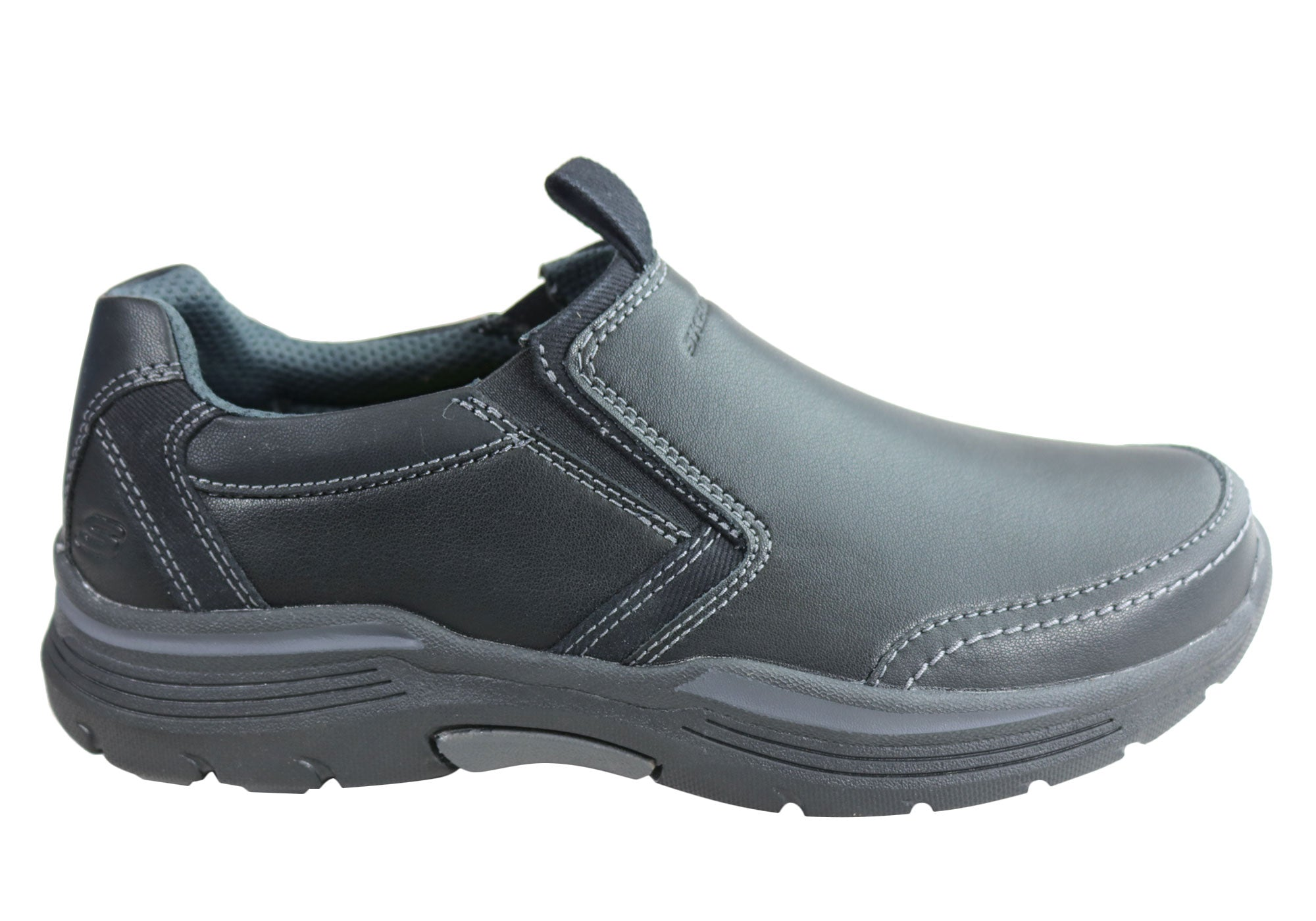 Mens-Skechers-Relaxed-Fit-Expended-Morgo-Memory-Foam-Leather-Shoes-ModeShoesAU thumbnail 13