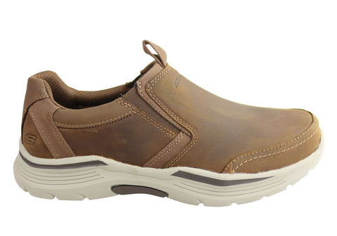 Skechers Mens Relaxed Fit Expended Morgo Memory Foam Leather Shoes
