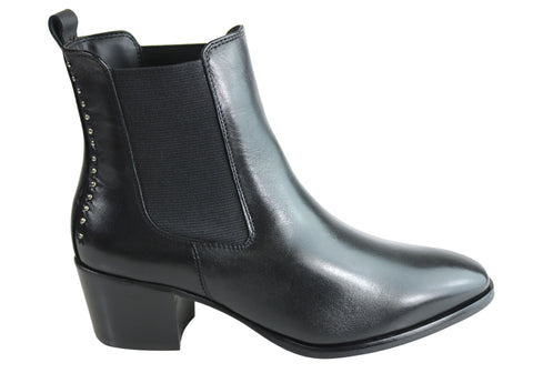 Villione Beatrice Womens Comfy Leather Ankle Boots Made In Brazil