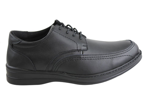 Grosby Jamarcus Mens Leather Comfort Shoes