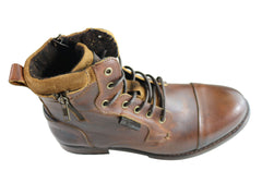 Wild Rhino Porter Mens Leather Lace Up Boots Made In Portugal