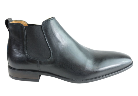 Wild Rhino Oxford Mens Leather Chelsea Dress Boots Made In Portugal