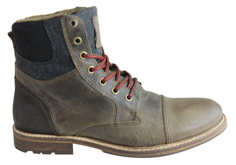 Wild Rhino Highland Mens Leather Lace Up Boots Made In Portugal