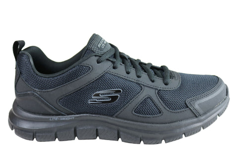 Skechers Mens Track Scloric Comfortable Memory Foam Athletic Shoes