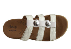 Scholl Orthaheel Spree Womens Comfort Orthotic Sandal Slides