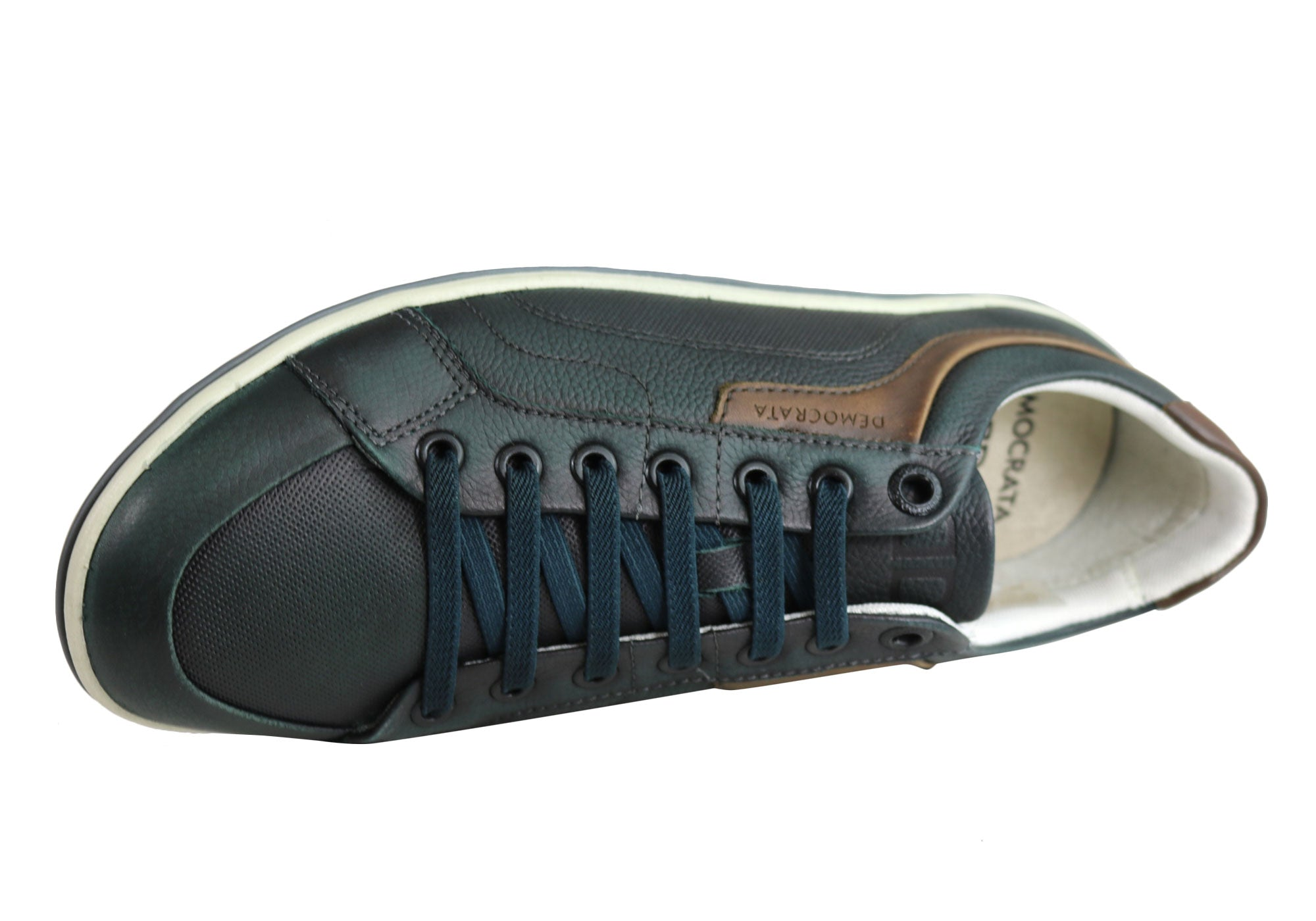 NEW-DEMOCRATA-MILES-MENS-LEATHER-SLIP-ON-CASUAL-SHOES-MADE-IN-BRAZIL thumbnail 7