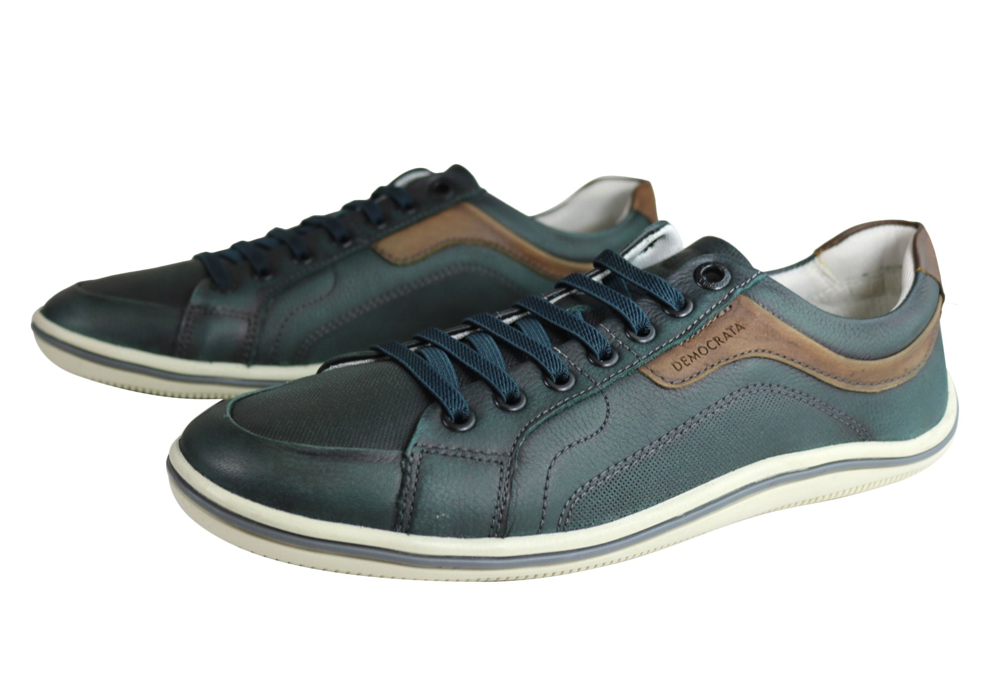 NEW-DEMOCRATA-MILES-MENS-LEATHER-SLIP-ON-CASUAL-SHOES-MADE-IN-BRAZIL thumbnail 8