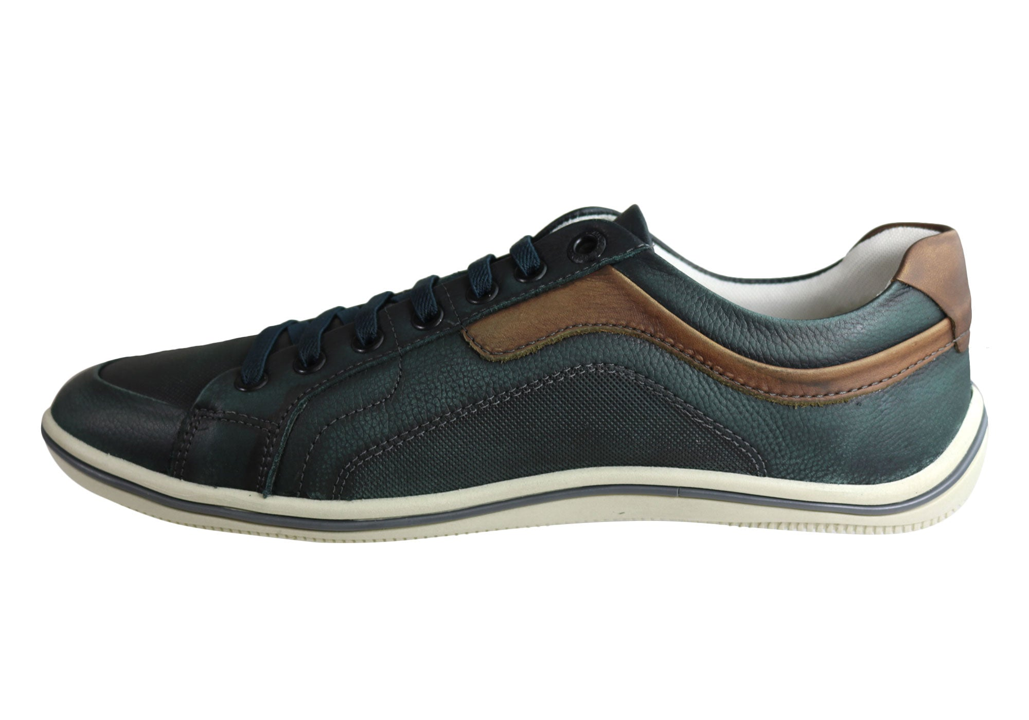 NEW-DEMOCRATA-MILES-MENS-LEATHER-SLIP-ON-CASUAL-SHOES-MADE-IN-BRAZIL thumbnail 10