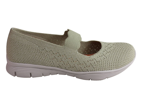 Skechers Womens Seager Power Hitter Comfy Memory Foam Mary Jane Shoes