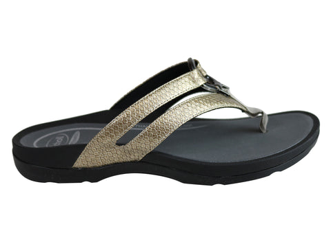 Scholl Orthaheel Tonga II Womens Supportive Comfortable Thongs Sandals