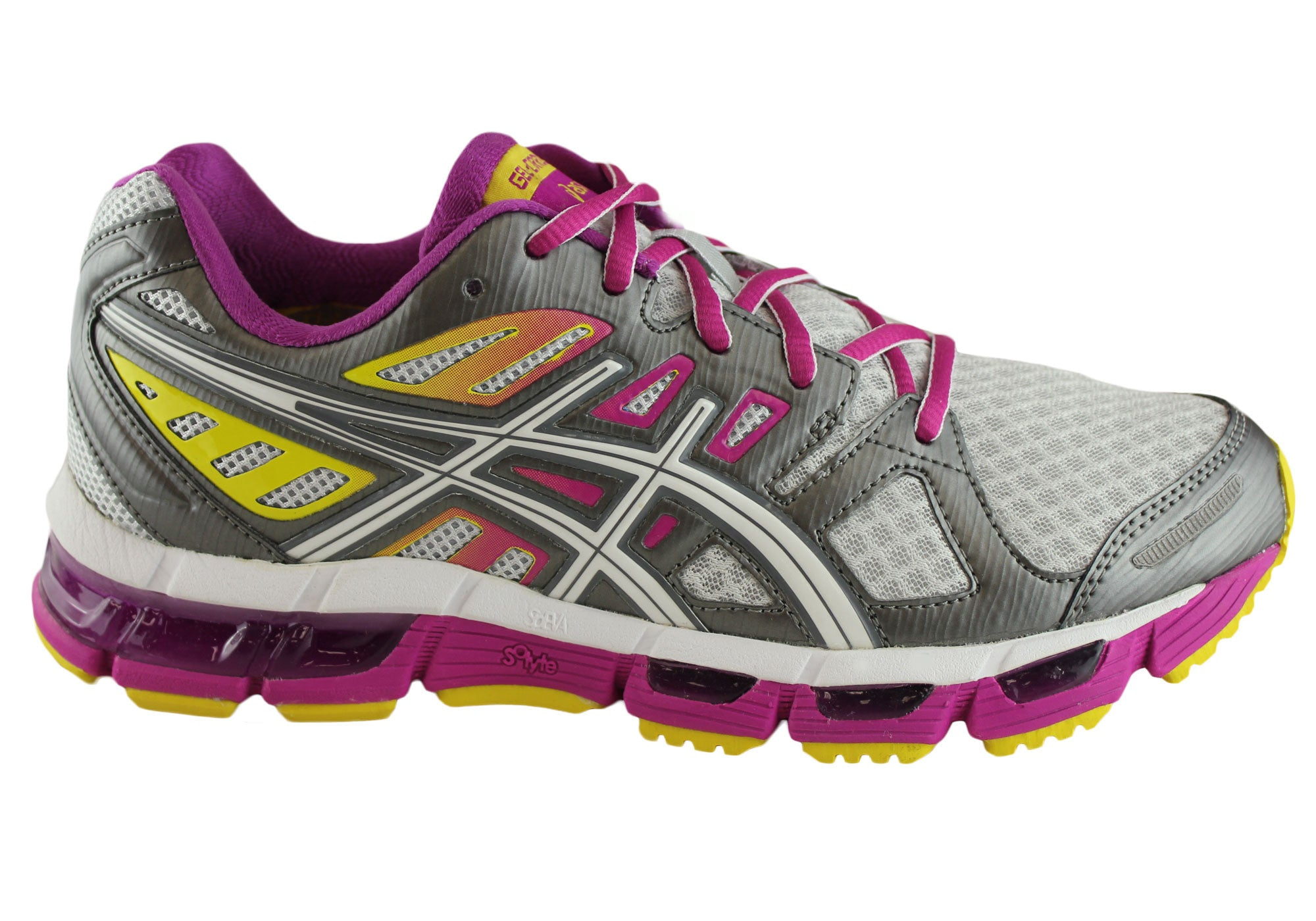 57f36de056f8 Home Asics Gel-Cirrus 33 2 Womens Running Sports Shoes. Silver  ...