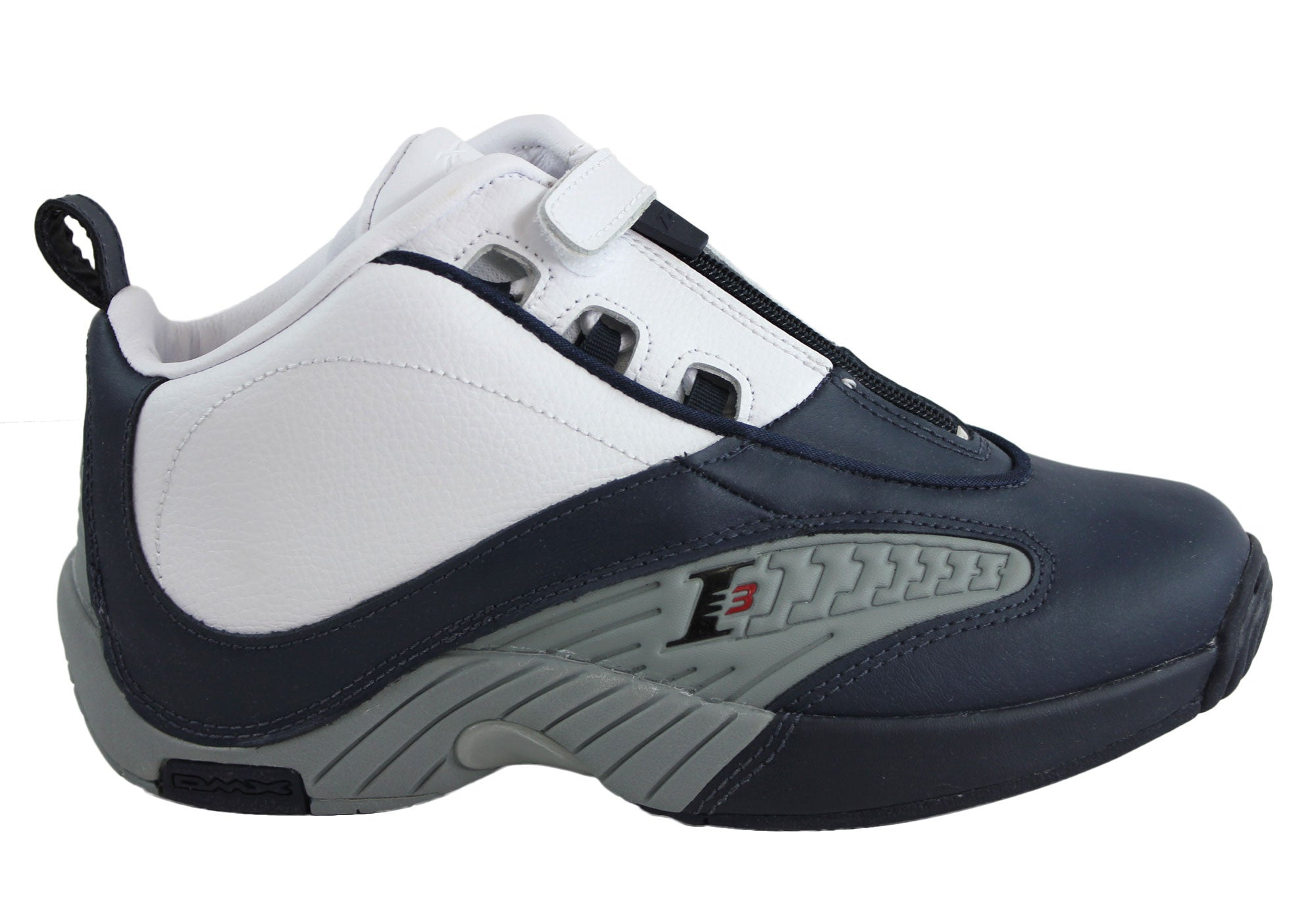 5f345ee6ba1 Home Reebok Kids Answer IV Boys Basketball Hitops. Navy White  Black Grey  ...