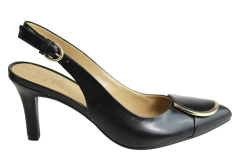 Naturalizer Nora Womens Leather Comfortable Sling Back Pump Heels
