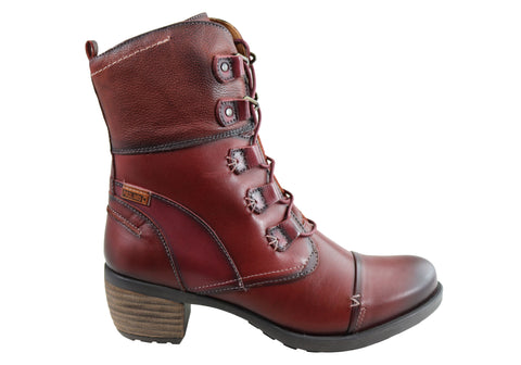 Pikolinos Le Mans 838-8990 Womens Comfortable Leather Low Heel Boots