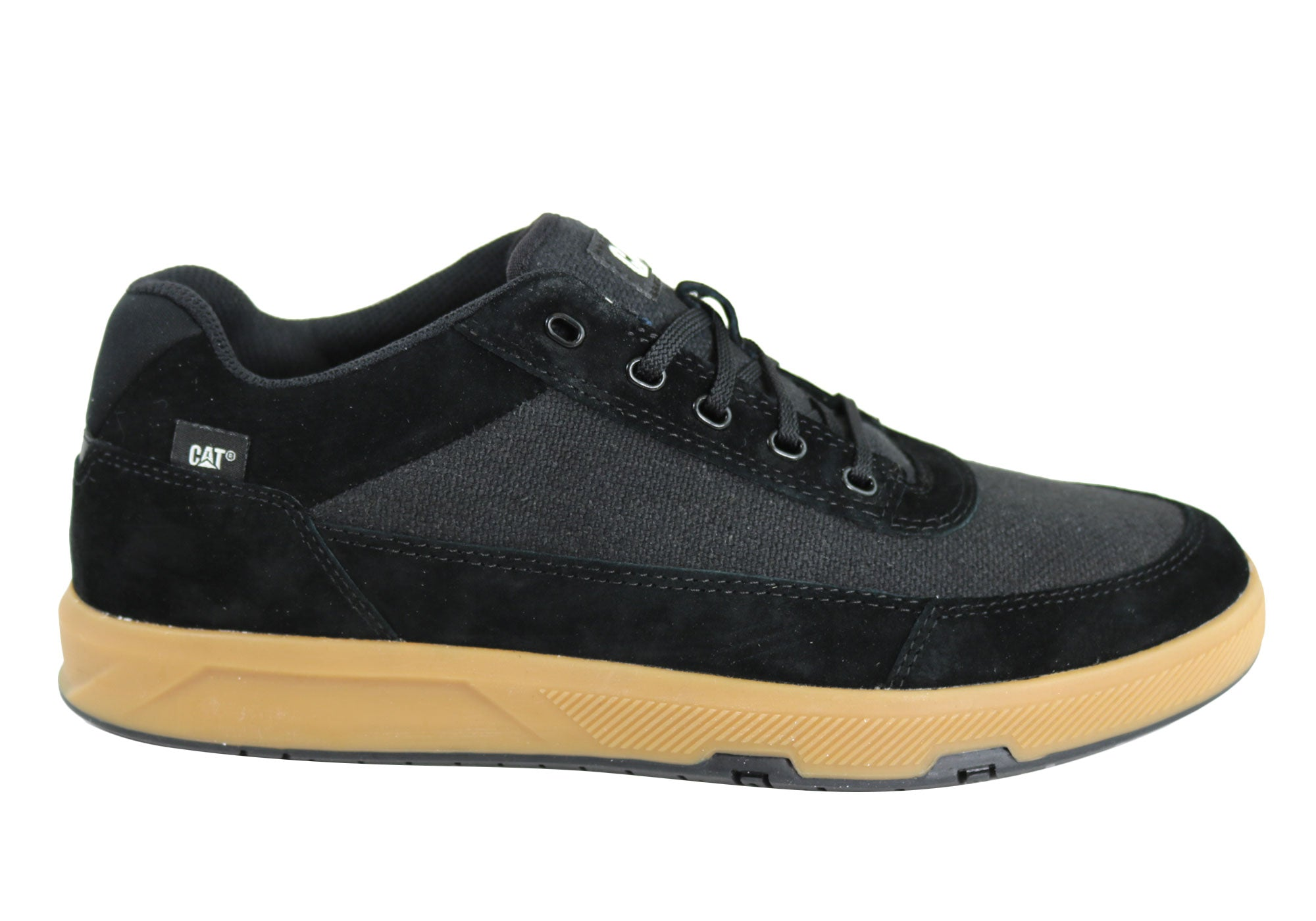 super cute low cost big discount Details about NEW CATERPILLAR DUE CANVAS MENS CASUAL COMFORTABLE LACE UP  WIDE FIT SHOES