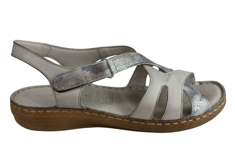 Orizonte Dixie Womens European Leather Comfortable Cushioned Sandals