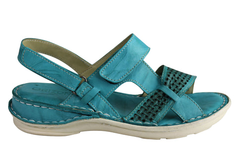 Orizonte Amose Womens European Leather Comfortable Cushioned Sandals