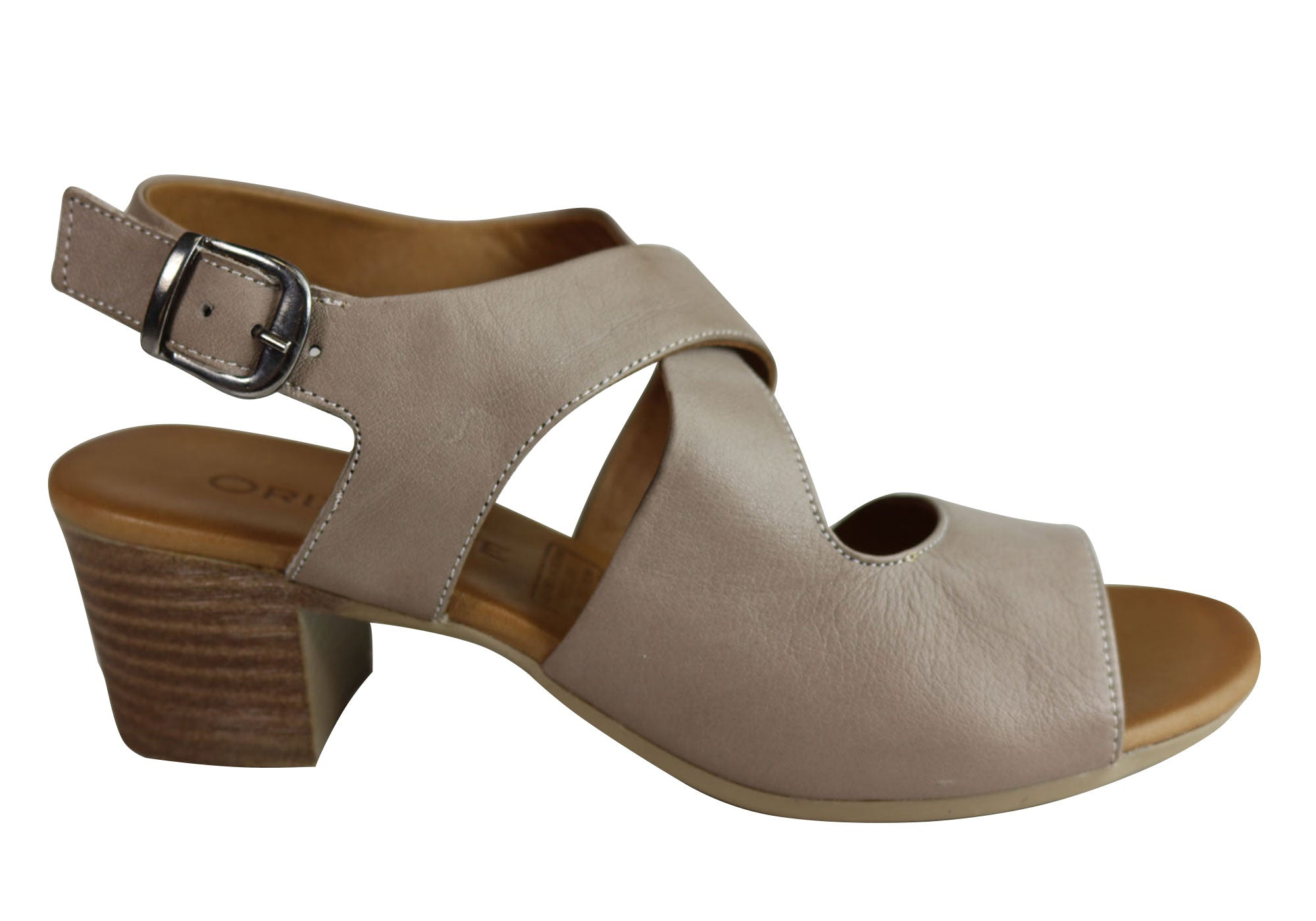 a203ffa49a7b NEW ORIZONTE KIRSTY WOMENS EUROPEAN COMFORTABLE LEATHER MID HEEL SANDALS