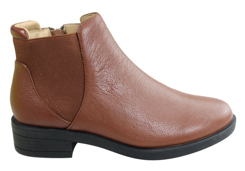 Scholl Orthaheel Stanza Womens Leather Comfort Supportive Ankle Boots