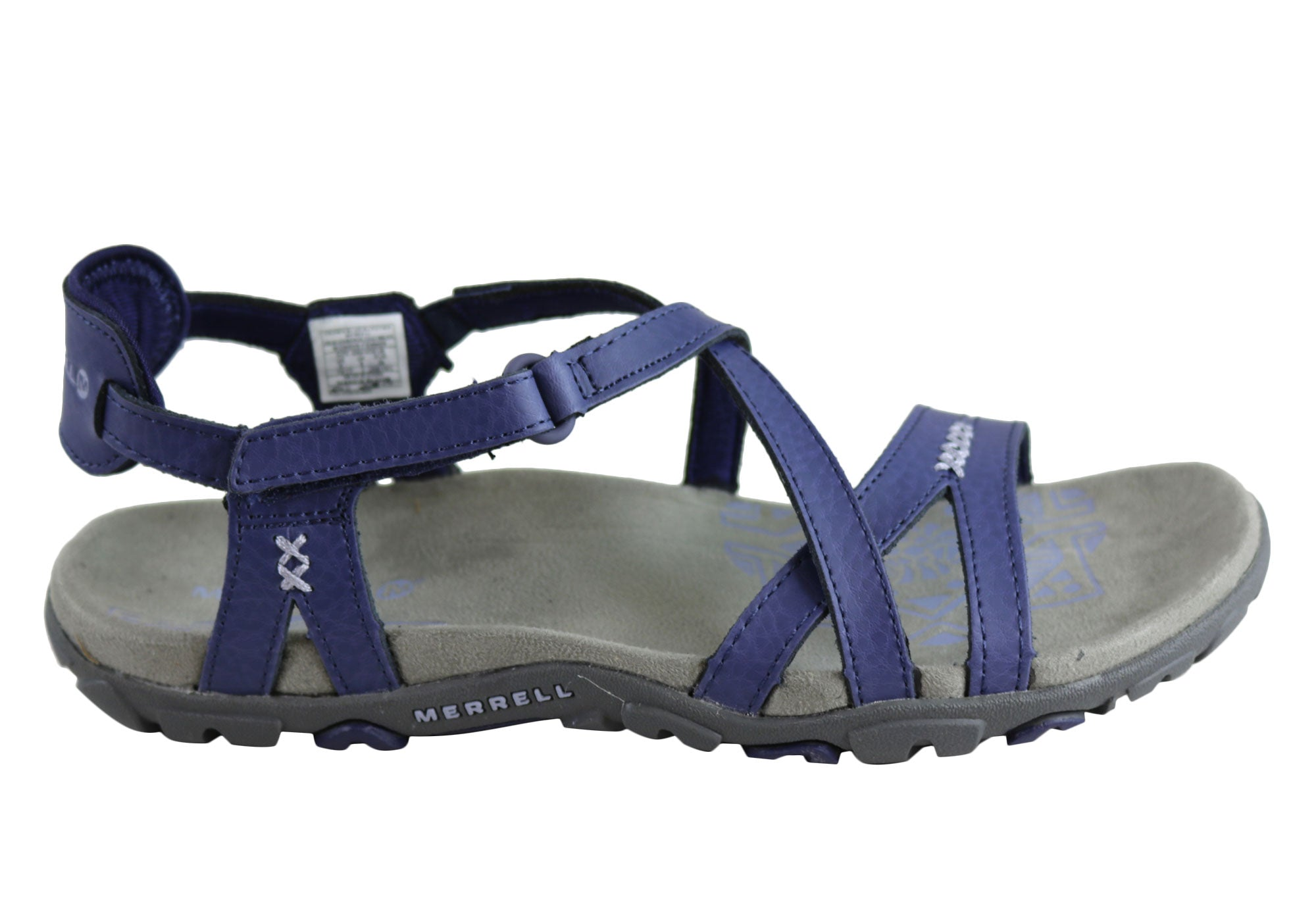 c5b2bbc5960 Home Merrell Womens Comfort Flat Supportive Sandspur Rose Leather Sandals.  Blue ...