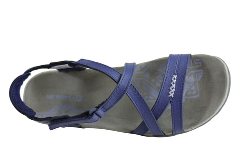 94994c51ea85a Merrell Womens Comfort Flat Supportive Sandspur Rose Leather Sandals ...