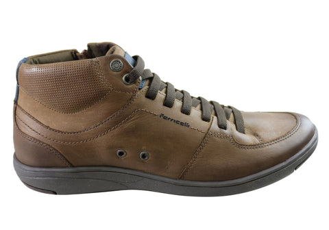 Ferricelli Tune Mens Leather Dress Casual Boots