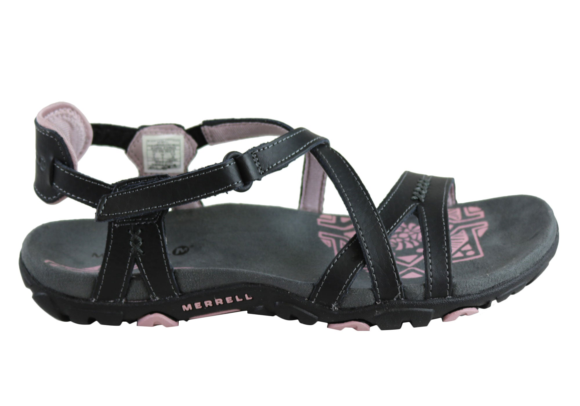 NEW-MERRELL-WOMENS-COMFORT-FLAT-SUPPORTIVE-SANDSPUR-ROSE-LEATHER-SANDALS
