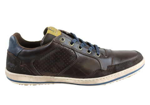 Wild Rhino Crest Mens Leather Lace Up Casual Shoes Made In Portugal